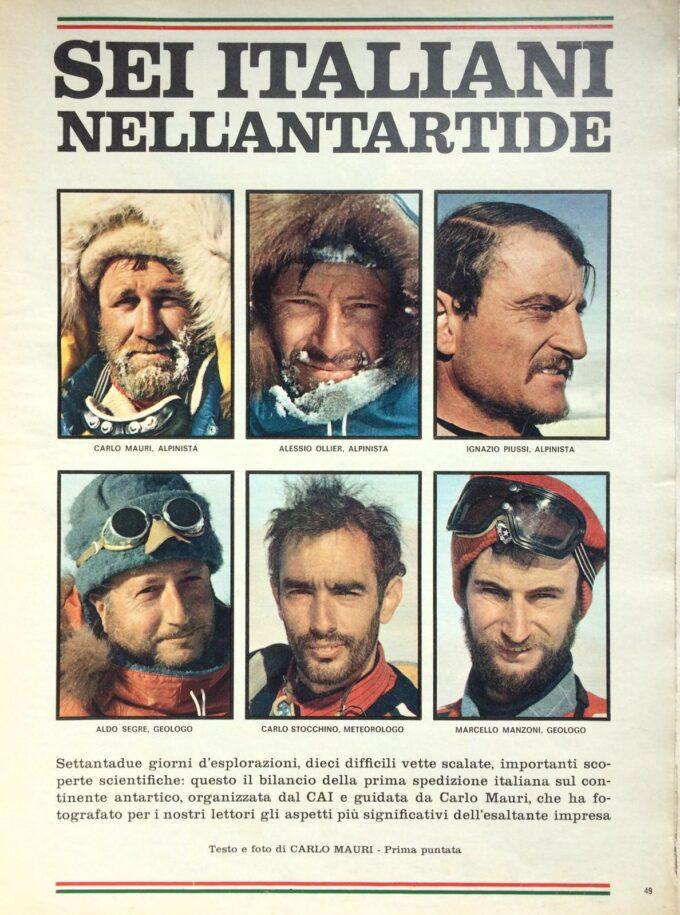 """MARCELLO MANZONI, uno degli """"ZINGARI"""" fra i ghiacci del Polo Sud con Piussi, si racconta."""