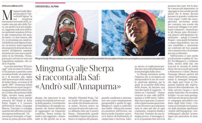 K2 IERI E OGGI. Mingma Gyalje Sherpa racconta la sua salita invernale al K2